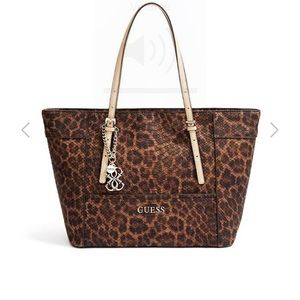 Guess leopard tote